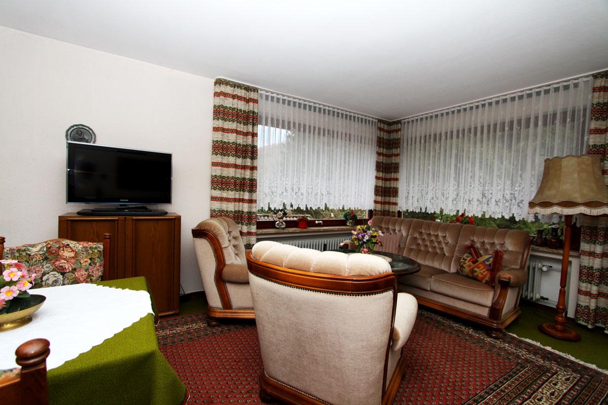 Die Sitzecke im Apartment.